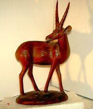 CONGO   ANTILOPE    BOIS   SCULPTURE D'ART      16x15x7 cm  480 grm