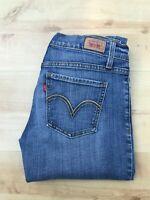 Women's Levi's 524 Too Superlow Blue Jeans W30 L32 (#A678)