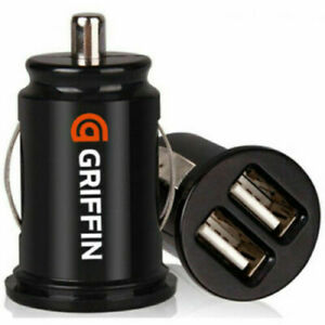 Official GRIFFIN Twin USB In Car charger cigarette lighter adapter All Phones