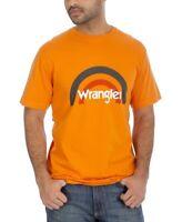 Wrangler Men's T-Shirt Orange Size Small S Graphic Tee Arch Logo $24 #355