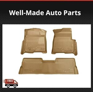 Husky Liners For Ford F-150 SuperCrew Crew Cab 09-2014 Weatherbeater Floor Mats
