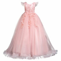 Flower Girl Dress Princess Party Wedding Bridesmaid Birthday Formal Ball Gown