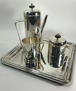 Mid-Century Modern Coffee Service in the style of PM Italy Fine Italian Silver