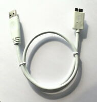 45cm Seagate Top Quality SuperSpeed USB 3.0 A Male to Micro B Male Cable white
