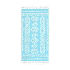 Aztec Kilim Goemetric Large Beach Towel - 39 x 70 Soft Turkish Cotton Towel