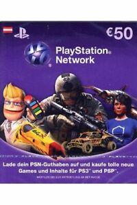 PlayStation Network Card 50 EUR Österreich PSN Code Email Lieferung