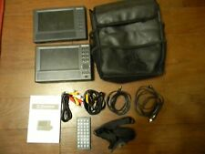 """Emerson 7""""Portable TravelDVD Player 2 Screen PDE-2717+Remote/Cables/Straps/Bag"""