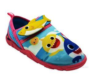 Baby Shark Water Shoes Size 5 - 10 Toddler Girls Aqua Socks Swim Sandal Pink NWT