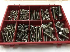 134 pcs M5 M6 M8 M10 Stainless Flanged Hex Head bolts 9 sizes 16mm to 50mm