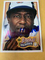 Hank Aaron Hand Signed Autographed Atlanta Braves Baseball Card W/COA HOF