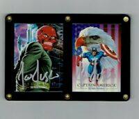 Marvel Masterpieces 1992 Joe Jusko Signed Captain America and Red Skull