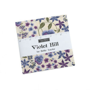 """FABRIC Moda Charm Pack ~ VIOLET HILL ~ by Holly Taylor 42 - 5"""" squares"""