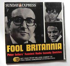 FOOL BRITANNIA PROMO CD PETER SELLER`S FUNNIEST RADIO COMEDY SKETCHES