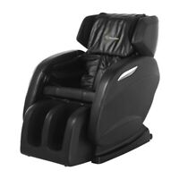 Full Body Real Relax Massage Chair Recliner Shiatsu Heat Black + 3Yrs Warranty!