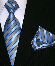 Binder de Luxe Designer Krawatte mit Einstecktuch Krawatten Set Tie + Hanky 129