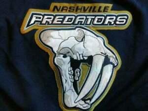Vintage Navy CCM Sewn Nashville Predators NHL Hockey T-shirt Reprint TK0968