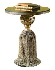 Antique Gold Twisted Iron Tassel Table