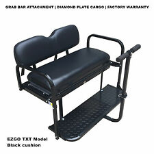 BLACK EZGO Rear Flip Seat for EZGO TXT Golf Cart 1994 to Current Year