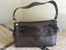 NWT Coach Signature Stripe Satin small purse