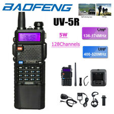 Baofeng UV-5R Two-way Radio Walkie Talkies Dual Band VHF UHF Hand Mic+Long Range