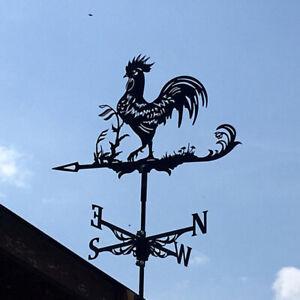 Vintage Metal Rooster Weathervane Weather Vane Outdoor Garden Yard Farm Decor