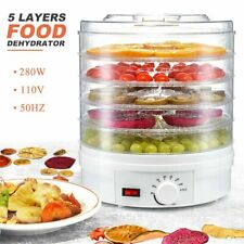 5 Trays Food Dehydrator Fruit Vegetable Meat Dryer Home Kitchen Drying Machine