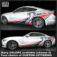 Ford Mustang 2015-2019 Cobra Style Multi-Color Side Stripes (Choose Color)