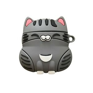 Silver Guardian Wanchoi Cute Cat Airpods Protective Case Cover For Gen 1 2 & Pro