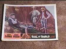 DUEL AT DIABLO 1966 LOBBY CARD #8 WESTERN SIDNEY POITIER