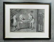 Antique (Pre - 1900) Grey Original Art Prints