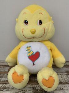 """2004 CARE BEAR COUSINS Large 24"""" Plush yellow PLAYFUL HEART MONKEY Animal"""