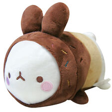 Molang Rabbit Donut Laying Plush Doll Toy -8""