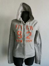 Abercrombie & Fitch womens cotton blend grey sweatshirt with hoody size S