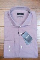 Hugo Boss Men's Jason Slim Fit Navy/Red Plaids Cotton Casual Dress Shirt 41 16