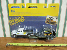 New Holland L170 Skid Loader With Dodge Pickup & Trailer By Ertl 1/64th Scale >