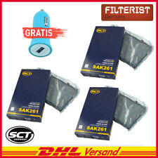 3X SCT Innenraumfilter Aktivkohle Renault, Opel Vivaro , Nissan Autoladegerät
