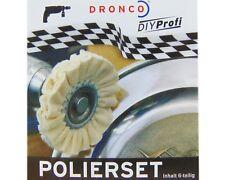 Dronco Polierset 6 teilig Polierscheiben mit Polierpaste Polieren Felgen Politur