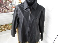 Ladies Black Leather Jacket 2006 NCAA FINAL TOUR Boston  sz L