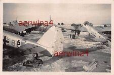 Werft mit deutschen Flugzeugen Ju 88 A-1 Flugplatz Dno Russland Ostfront