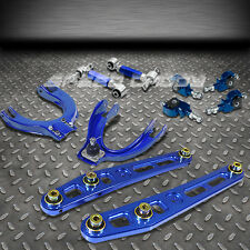 BLUE LOWER CONTROL ARM+FRONT+REAR CAMBER+ADJUSTER SUSPENSION KIT 88-91 CIVIC/CRX