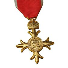 Full Size OBE Civil Medal With 2nd Type Civil Ribbon for Officer British Empire