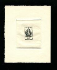 France1947 Sc B218 Communications Costumes Stamp Day Sunken Die Artist Proof