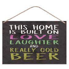 Home is intégré sur Love,Laughter et Bière - Grand métallique signe plaque