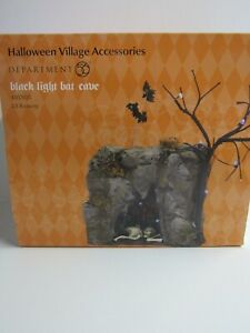 Dept 56 Snow Village Halloween Black Light Bat Cave 4057625