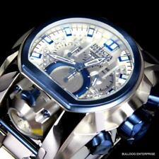 Invicta 20112 Reserve Bolt Zeus Magnum Swiss Steel Silver Blue 2 Dial 52mm Watch