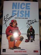 Mark Rylance & Louis Jenkins Signed Nice Fish Theatre Programme & PROOF