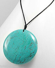 FABULOUS Beauty LARGE Turquoise Blue Circle Necklace Statement Piece Retail $40