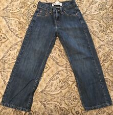 Levis 550 Jeans Relaxed Fit Straight Leg Boys Size 8 Slim 22 x 22 Cotton