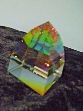 Swarovski Crystal Figurine Small Pyramid Paperweight Vitrail Medium