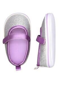 Child Of Mine Carters Purple Sparkly Shoes Size 0-3 Months NWT Girls Infant